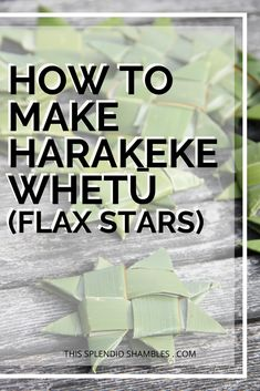 How to make harakeke whetū (flax stars) on This Splendid Shambles. Really easy, kid friendly, craft you can DIY in your own backyard. Flax Weaving, Weaving For Kids, Preschool Arts And Crafts, New Zealand Art, Jr Art, Maori Art, Messy Play, Work Activities, Craft Club