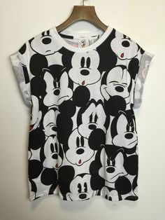 Cute Cartoon Mickey T Shirt Women's