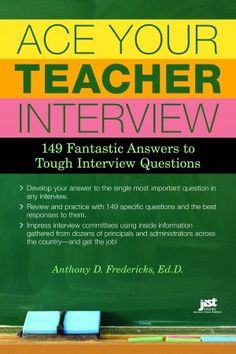 Ace Your Teacher Interview: 149 Fantastic Answers to Tough Interview Questions…just an fyi for now. Ace Your Teacher Interview: 149 Fantastic Answers to Tough Interview Questions…just an fyi for now. Teacher Tools, Teacher Hacks, Your Teacher, Teacher Resources, Teacher Stuff, Ms Teacher, Classroom Fun, Future Classroom, Classroom Organization