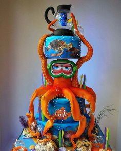 Suche nach Dory Cake - gâteaux - Dory Cake-gâteaux-を検索 #ケーキ #ドーリー #ガトー #後 #検索 Crazy Cakes, Fancy Cakes, Pink Cakes, Pretty Cakes, Cute Cakes, Beautiful Cakes, Amazing Cakes, Disney Desserts, Disney Cakes