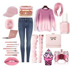 """""""Pink Lover"""" by kaitiebug1111 ❤ liked on Polyvore featuring Privileged, 7 For All Mankind, Adolfo Courrier, Viktor & Rolf, Nasaseasons, Bdellium Tools, Incase and Eos"""