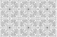 Elegant Blackwork Pattern