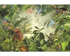 Find Fine Decor Into the Wild Tropical Rainforest Jungle Smooth Wallpaper Mural at Homebase. Visit your local store for the widest range of paint & decorating products. Photo Wallpaper, Wallpaper Roll, Wall Wallpaper, Animal Wallpaper, Forest Wallpaper, Bathroom Wallpaper, Pink Wallpaper, Fabric Wallpaper, Into The Wild