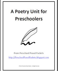 Poetry unit for preschool