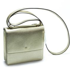 Kate Spade Mikas Pond Gold Brand new with tags. Crossbody bag with flap closure with magnetic snap. Tango dot on cotton twill lining. 14-k light gold plated hardware. Never carried. With dust bag. kate spade Bags Crossbody Bags