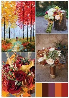 Autumn wedding colors #fallwedding #weddinginspiration #autumnwedding #weddingideas #outdoorwedding