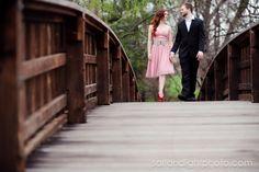 On bridge...botanic gardens maybe?