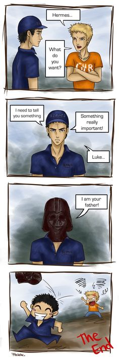 Luke Castellan and Hermes XD This is terrible but so hilarious!!!!!!