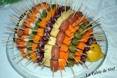 Il vous faut : 1 boule de pain 1/2 citron 2 clous de girofle 1 boîte de cure-dents Saucisson Saucisse Gouda Gruyère Surimi Olives Pour le corps, vous aurez besoin de la boule de pain, du 1/2 de citron et des clous de girofle pour les yeux. Il suffit de... Gouda, Olives, Cure, Carrots, Vegetables, Meals, Sausages, Creative Food, Clove Tea