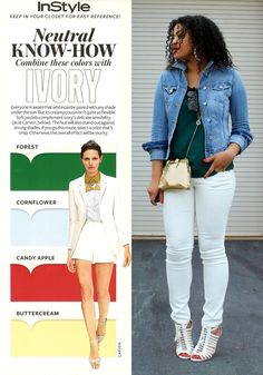Neutral Know-How Colors to wear with Ivory via InStyle