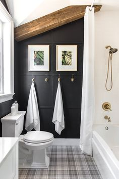 Bold Luxury Budget Bathroom Reveal 2019 Get this bold luxury on a budget look with affordable options from Lowes! The post Bold Luxury Budget Bathroom Reveal 2019 appeared first on Bathroom Diy. House Bathroom, Interior, Guest Bathroom, Home Decor, House Interior, Bathroom Interior, Modern Bathroom, Bathrooms Remodel, Bathroom Decor