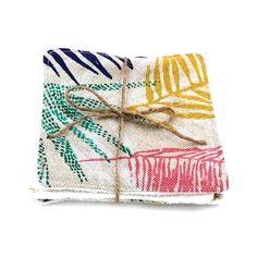 Lot de 3 Lingettes Lavables Feuillages Multicolores VieOnaturelle Lotion Tonique, Cleansing Milk, Hand Made, Gift Ideas