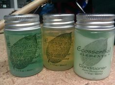 Perfect for camping!  Ecossential Elements biodegradable bath gel, shampoo and conditioner #20127 | $0.75 each