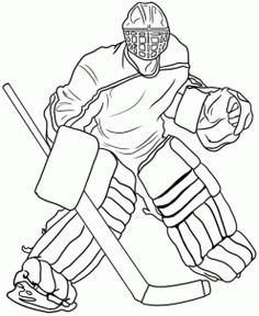 Ice Hockey Goalie Coloring Pages