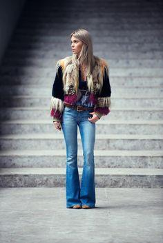 that fur is freakin amazing. #CarolaBernard in Milan.