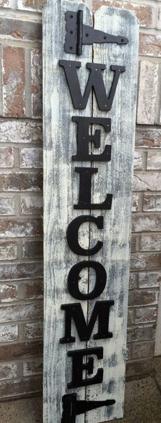 Front Porch Black Wood Sign Front Porch Welcome от RedRoanSigns