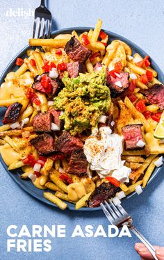 Carne Asada Fries Will Ruin All Other Fries For YouDelish Food Recipes For Dinner, Food Recipes Homemade Mexican Food Recipes, Beef Recipes, Dinner Recipes, Cooking Recipes, Healthy Recipes, Ethnic Recipes, Pasta Recipes, Yummy Recipes, Healthy Food