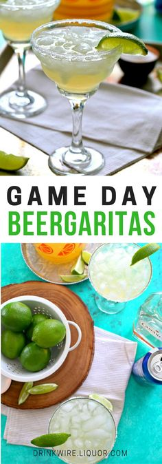 You love beer, and you love margaritas. Why not combine the two? This universal drink is perfect for big game days and of course, the ! Mix some of these up for your big football party! Healthy Superbowl Snacks, Game Day Snacks, Game Day Food, Party Snacks, Party Recipes, Superbowl Food Ideas, Football Party Foods, Football Food, Football Parties