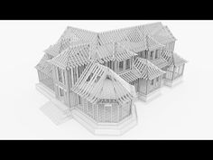 Sketchup Model Timelapse - Wood Frame Home - 5X Speed - YouTube