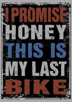 BicycleGifts.com - Honey I Promise Mens, $19.95 (http://www.bicyclegifts.com/honey-i-promise-mens/)