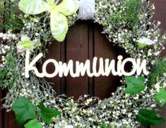 """Dekoration - Holz-Schriftzug """"Kommunion"""" - ein Designerstück von Holzmeile bei DaWanda"""