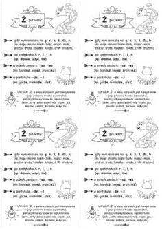 "Pisownia ""ż"" - wklejki - Printoteka.pl Polish Language, Homeschool, Teacher, Bullet Journal, Study, Education, Aga, Speech Language Therapy, Therapy"