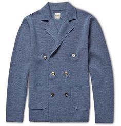 Hardy Amies - Slim-Fit Unstructured Wool Double-Breasted Blazer