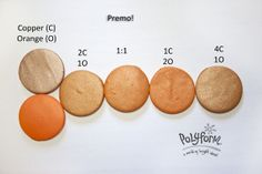 Oct2 - copper and orange  #Polymer #Clay #Colormix