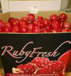 Have you seen our Ruby Fresh Pomegranate bins this year yet? You can find them at Sprouts Farmers Market, Safeway, Fresh & Easy Neighborhood Market(TM), and Sobeys. If you find one be sure to take a picture and share it with us in the comments or on our wall, we will be featuring fan pictures in upcoming posts.