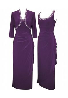 Plus Size Grape Dress Set image