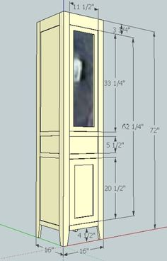 SketchUp Plan For Linen Cabinet