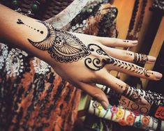 """Preparing new designs for Saturday #jagua #tattoo #crescentmoon #mehndi…"
