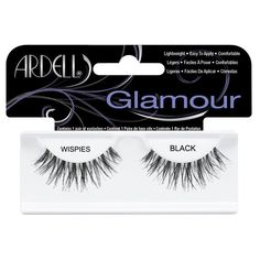 Ardell Lashes Ardell Glamour Wispies Lashes ($7.46) ❤ liked on Polyvore featuring beauty products, makeup, eye makeup, false eyelashes, black, ardell, ardell fake eyelashes and ardell false eyelashes