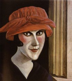 Otto Dix, Frau mit Roten Hut (Woman with Red Hat), 1921