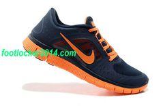 Nike Free Mens Sneakers Dark Blue Orange