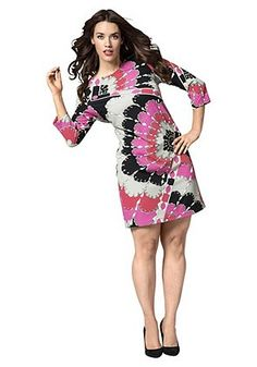 Anna Scholz Kleid mit Alloverprint - Bunt - SHEEGO ANNA SCHOLZ