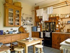 Renovating a Victorian family home, kitchen with stove and mellow pine | Period Living