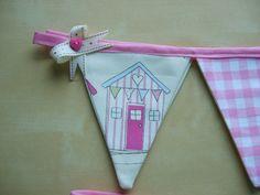 Curtain Bunting Tie Backs in Seaside Beach Huts by DitzyDotty, £11.99