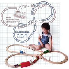 Great layout for wooden train tracks train tracks for Ikea tracking usa