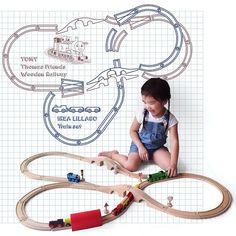 Ikea Lillabo train track layout idea