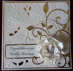 i have been making golden wedding cards as the last time i had a