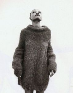 urban softwear, lorraine pascale by corinne day for elle uk november 1991 Roux: Mohair