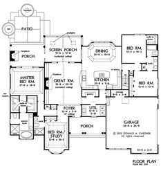 PLAN OF THE WEEK: Two very different footprints - HousePlansBlog.DonGardner.com – The size and shape of your lot can dictate your home's footprint. This week we're featuring a spacious ranch and a compact two-story home design. #craftsman #onestory #planoftheweek