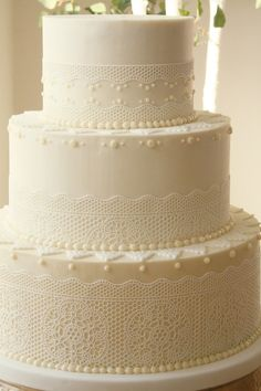 Lace Wedding Cake by Cassidy Budge Cake Design
