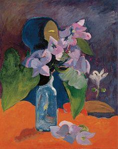 File:Gauguin 1892 Nature morte aux fleurs et à l'idole.jpg