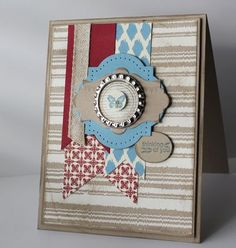 We love the cool color combo of this card!