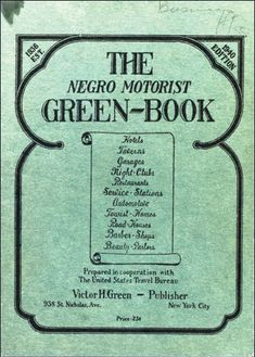 The Green Book, which was published from 1936 until the passage of the Civil Rights Act in 1964,  listed establishments across the U.S. (and eventually North America) that welcomed blacks during a time when segregation and Jim Crow laws often made travel difficult — and sometimes dangerous.