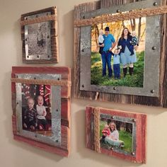 10 DIY home décor wood projects Simphome is part of Barn wood picture frames - If you have plans to redécor your home with oldfashioned and rustic look, then these 10 DIY home décor wood projects will inspire you Barn Wood Picture Frames, Picture Frame Crafts, Picture On Wood, Photo Frame Ideas, Unique Picture Frames, Frames Ideas, Diy Photo, Cadre Photo Diy, Marco Diy