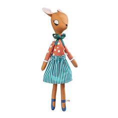 """Deer Lady Red"" by Pani Pieska Plush Animals, Rimmel, Plushies, Deer, Baby Kids, Christmas Ornaments, Holiday Decor, Outdoor Decor, Fun"