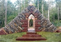 Lovely gothic arch in drystone wall by  John Shaw-Rimmington, Canada